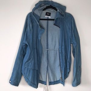 Urban Outfitters Oversized Hooded Denim Jacket